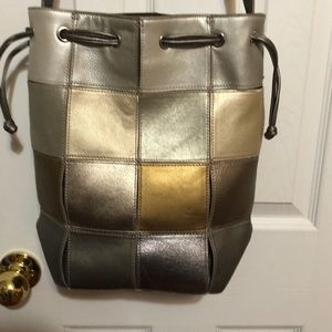 Carlos Falchi Genuine Leather Patchwork Bag
